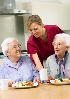 dining service at rehab center
