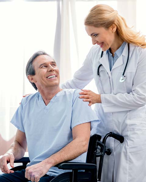 nurse with patient-about us